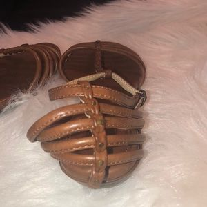 Frye Shoes - Frye Naomi Strappy Leather Sandals Size 9.5